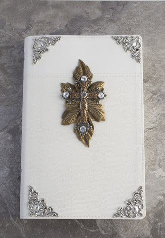 NIV Walk in the Woods Jeweled Bible White RETIRED