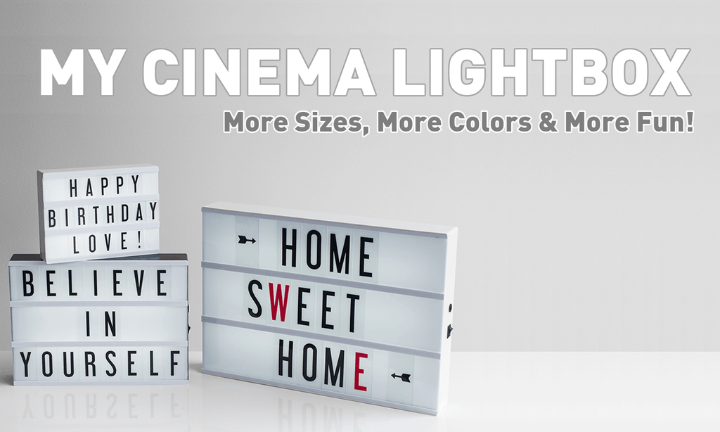 My Cinema Lightbox: Now With More Sizes, More Colors & More Fun!