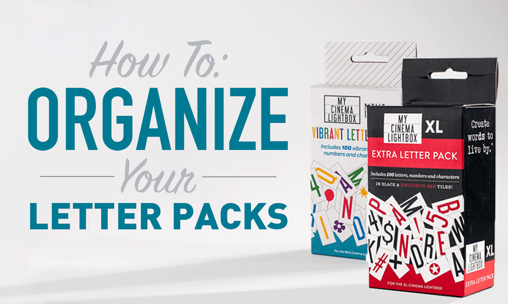 How to Organize Your My Cinema Lightbox Letter Packs