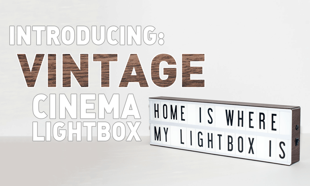 Introducing: The Vintage Cinema Lightbox