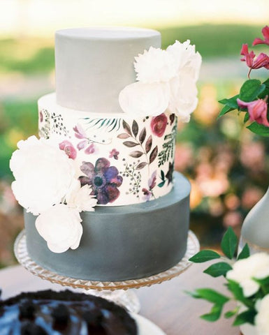 wedding watercolor cake