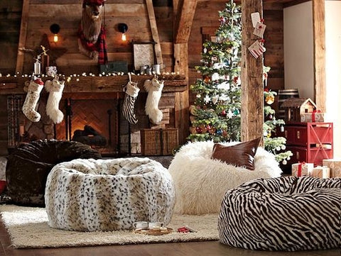 holiday decor animal print