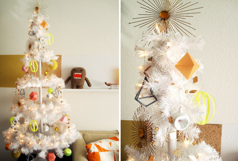 holiday decor geometric ornaments
