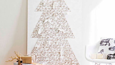 holiday decor geometric tree