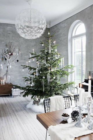 holiday decor black white