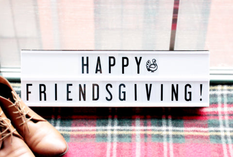 vintage my cinema lightbox friendsgiving fall decor