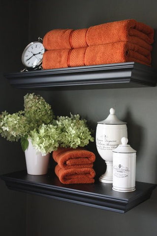 fall decor orange towels