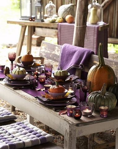 holiday decor purple accents