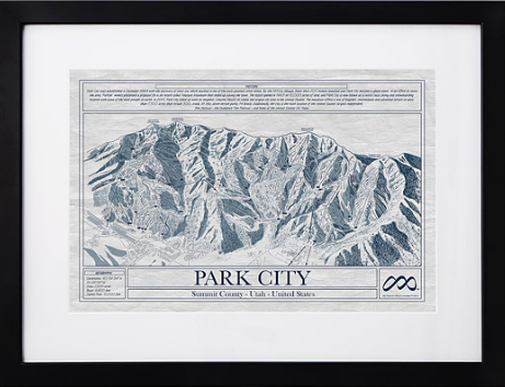 ski resort blueprints gift
