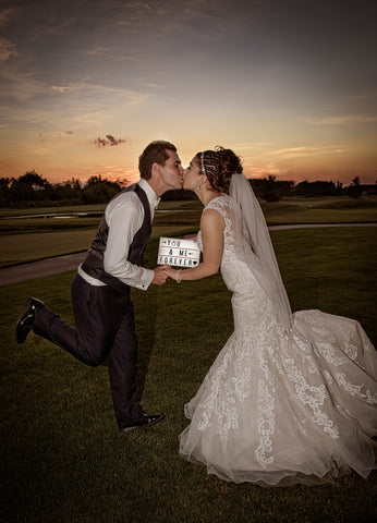 how to cinema lightbox wedding idea