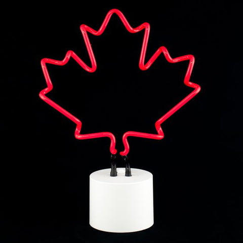 summer party decor ideas canada day neon light