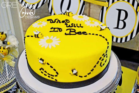 baby shower decor cake bee