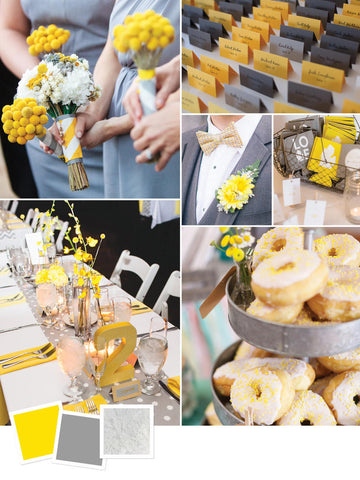 wedding spring trend bold yellow