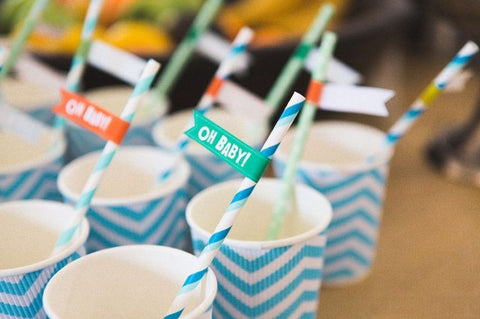 baby shower decor straws