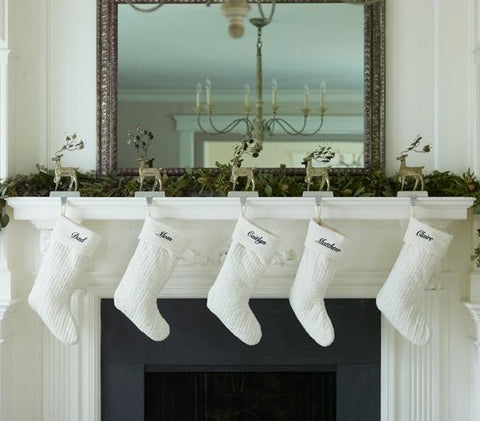 holiday decor white mantle minimalist modern