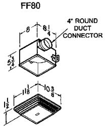 Compact Ceiling or Wall Mount Utility Ventilator w/ Grill
