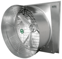 Typhoon Slant Wall Exhaust Fan w/ Cone Energy Efficient 36 inch 10967 CFM 3 Phase Belt Drive VFS36CS13-E