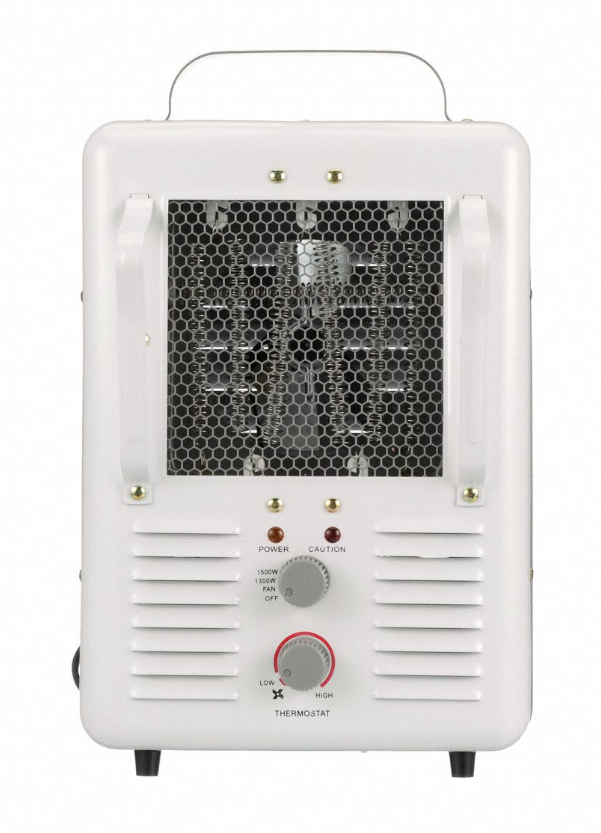 TPI Corp. Jobsite / Garage Fan Forced Portable Heater 1300 / 1500 Watt 120 Volt 188TASA