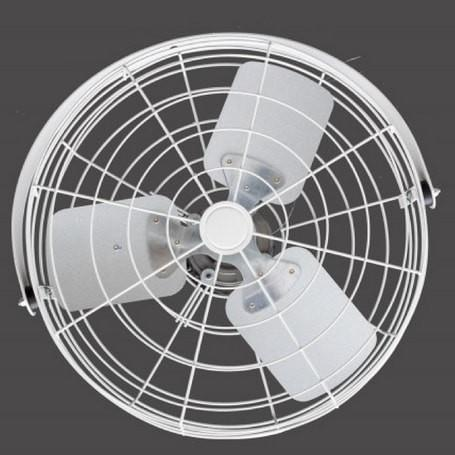 White Circulator Fan W Wide Guard 18 Inch 3100 Cfm 3