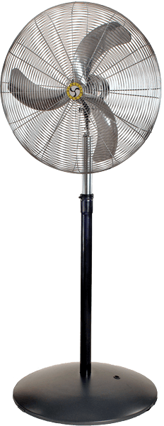 Industrial Ultra-Quiet Pedestal Fan 3 Speed 24 inch 5588 CFM 20895, [product-type] - Industrial Fans Direct