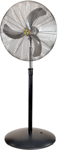 Industrial Ultra-Quiet Pedestal Fan 3 Speed 20 inch 3100 CFM 20893, [product-type] - Industrial Fans Direct