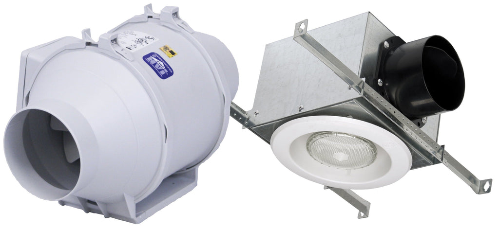 Standard Lighted Exhaust Fan Kit w/ Fluorescent Grille 4 inch Duct Diameter 135 CFM KIT-TD100XF