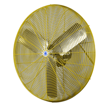 Schaefer Ventilation 30 inch Industrial Safety Yellow Wall Mounted Air Circulator Fan 2 Speed 30CFO-SY-WMTA36-SY