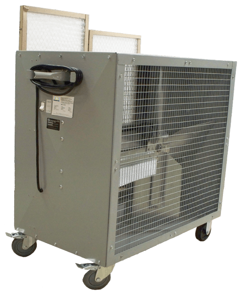 Portable Filtered Box Fan 2 Speed 36 inch 4463 CFM Belt Drive 39181, [product-type] - Industrial Fans Direct
