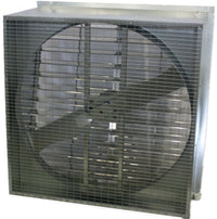 AirFlo Agricultural Slantwall Exhaust Fan w/ Shutter 48 inch 18686 CFM 3 Phase Direct Drive 48NFSWD750-3T
