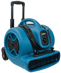 XPower Air Mover w/ Telescopic Handle & Wheels & Carpet Clamp 3 Speed 2800 CFM P-630HC
