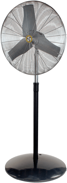 Industrial Pedestal Fan 3 Speed 24 inch 5220 CFM 71760, [product-type] - Industrial Fans Direct