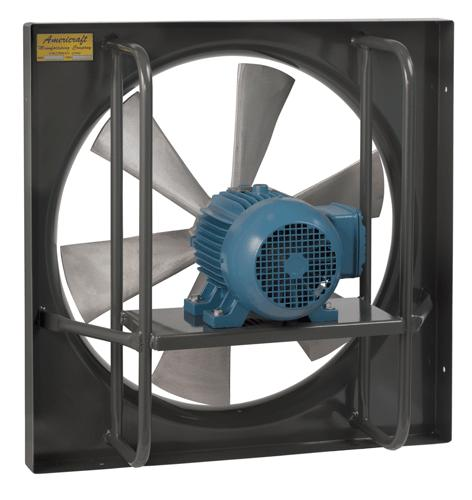 AirFlo-900 Panel Mount Exhaust Fan 30 inch 16000 CFM Direct Drive 3 Phase 930-3-3TEFC