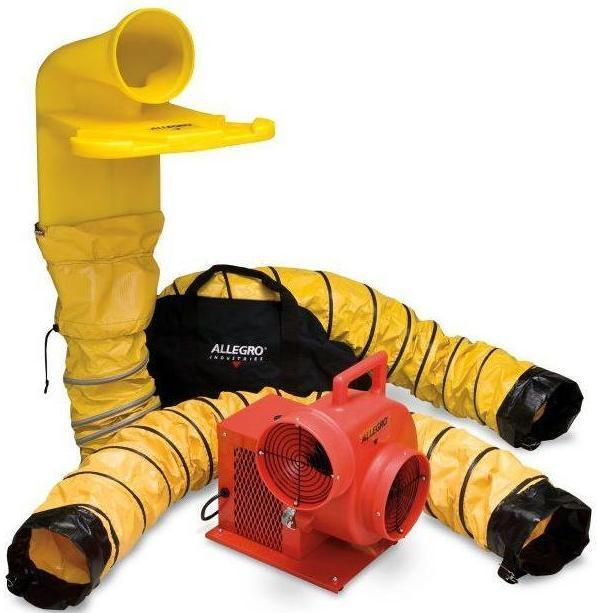 Confined Space Centrifugal Ventilator Blower Kit 8 inch 1850 CFM 9520-07M