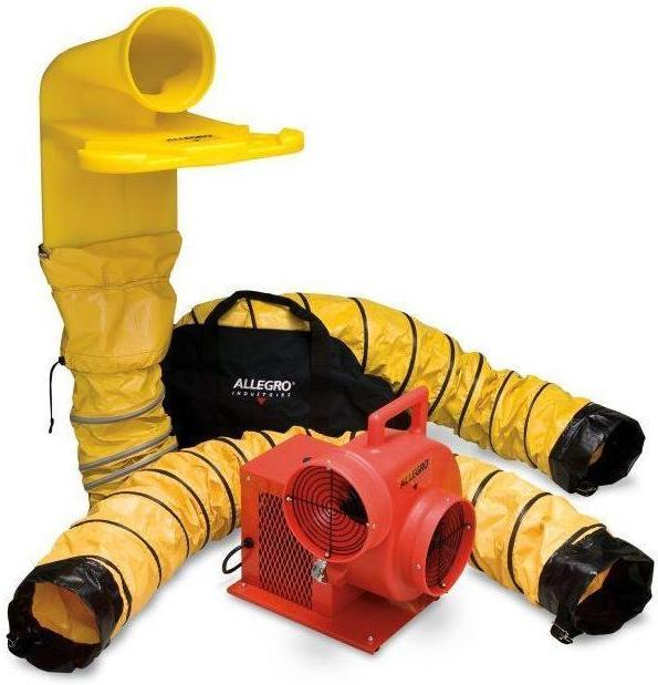 Confined Space Centrifugal Ventilator Kit 8 inch w/ 15' Duct 1066 CFM 9520-04M