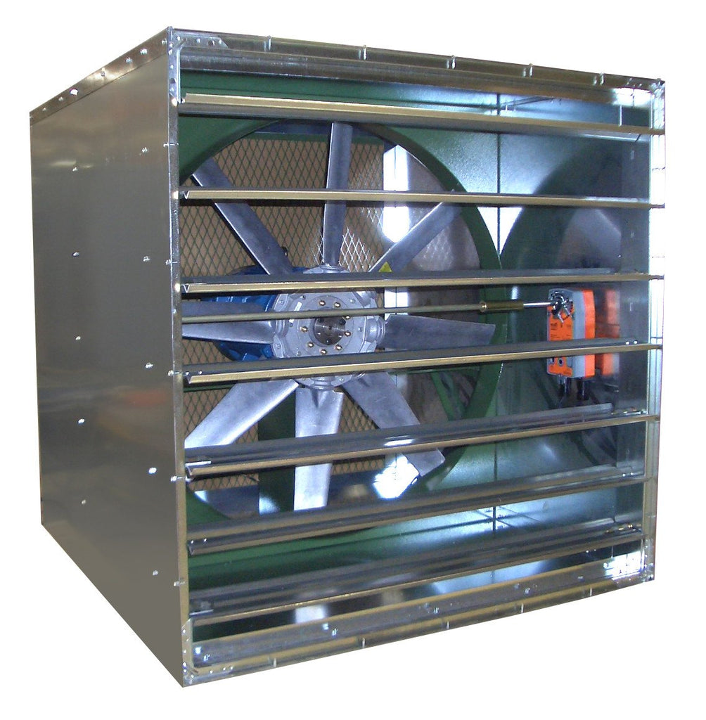 ADDR Reversible Fan w/ Cabinet 48 inch 39500 CFM Direct Drive 3 Phase, [product-type] - Industrial Fans Direct