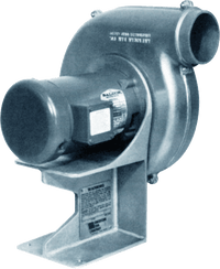 "Aluminum Forward Curve Pressure Blower 3 inch Inlet / 4 inch Outlet 380 CFM at 1"" SP 1 Phase"