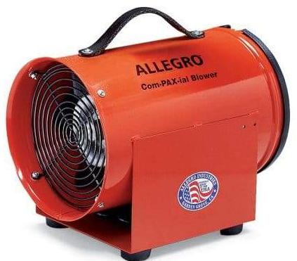 Confined Space Ventilator Blower DC Motor 12 inch 1685 CFM 9529