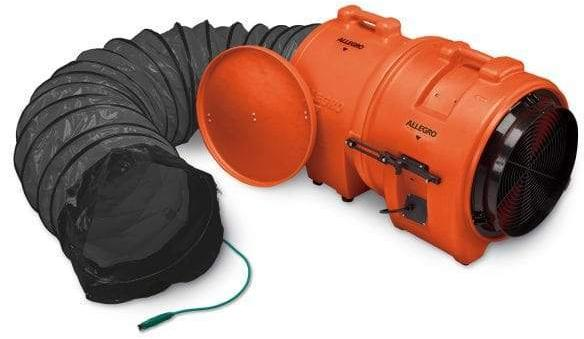 Allegro Industries 16 inch Explosion Proof Fans Axial Confined Space Blower w/ Canister & 15' Duct 9558-15