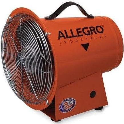 Explosion Proof Ventilation Blower 8 inch 890 CFM w/ Canister and 15 ft. Duct 9514-05