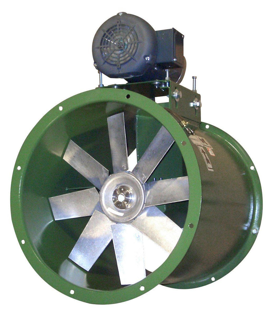 WTA Tube Axial Fan Wet Environment 12 inch 2100 CFM Belt Drive 3 Phase WTA12T30033M, [product-type] - Industrial Fans Direct