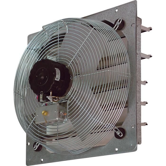 CE Exhaust Fan w/ Shutters 3 Speed 10 inch 680 CFM Direct Drive CE10-DS, [product-type] - Industrial Fans Direct