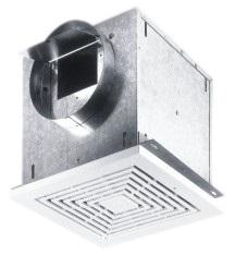 FloAire Ceiling or Wall Mount Utility Ventilator w/ Grill 300 CFM Variable Speed CFA300FA