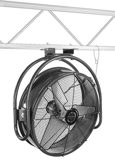 Ceiling Fan Direct Drive : Drum type ceiling mount circulating fan inch cfm