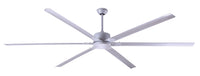 LIMITED TIME SALE! Zephyr96 Silver 8 foot Ceiling Fan w/ 5 Speed Remote 2940 Sq Ft Coverage NFC8SLV