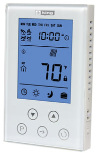 King's ClearTouch Programmable LCD Thermostat 120/240V 15Amp K302PE