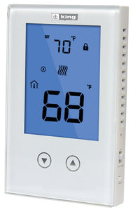 King's ClearTouch Non-Programmable LCD Thermostat 120/240V 15Amp K322E