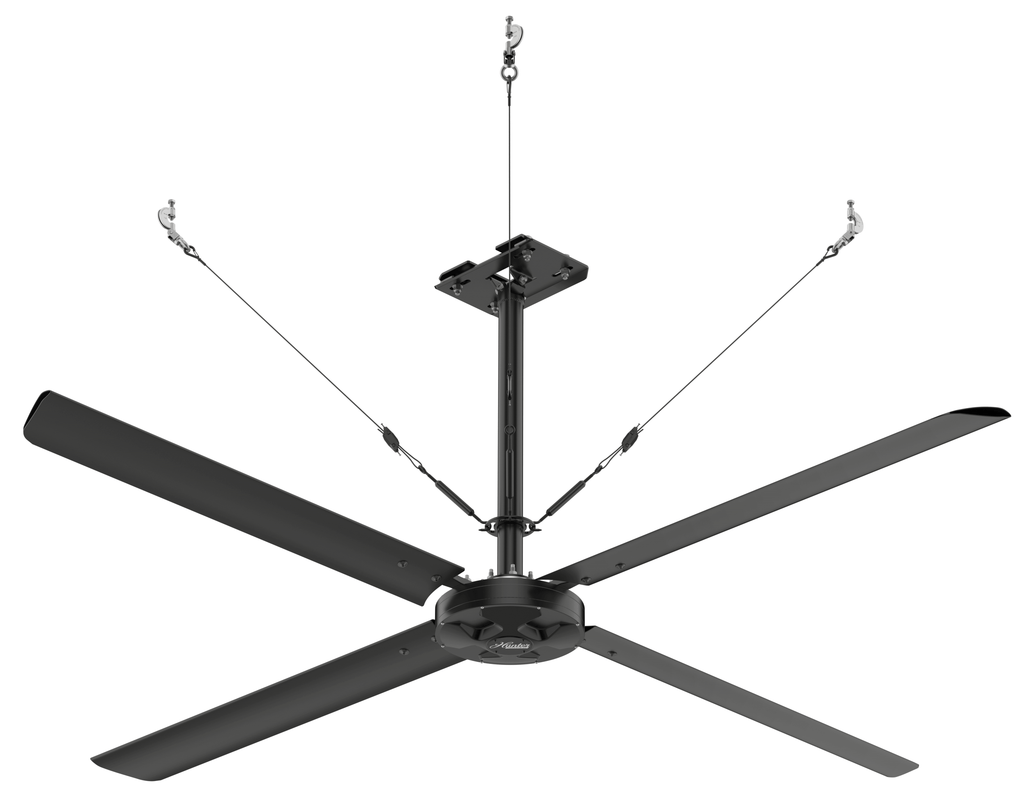 Hunter ECO HVLS Networked Control Ceiling Fan 16 foot 6400 Sq Ft Coverage 220 Volt 72284
