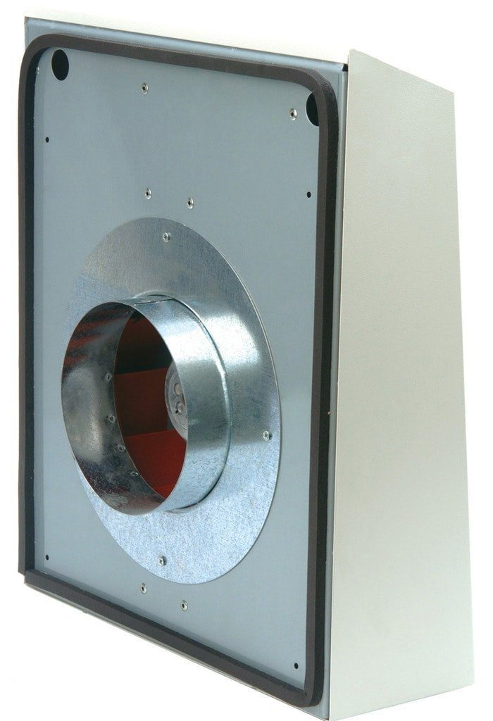 Crawl Space Fan Vent Galvanized Steel Built In Thermostat Wall Mount Silver Home
