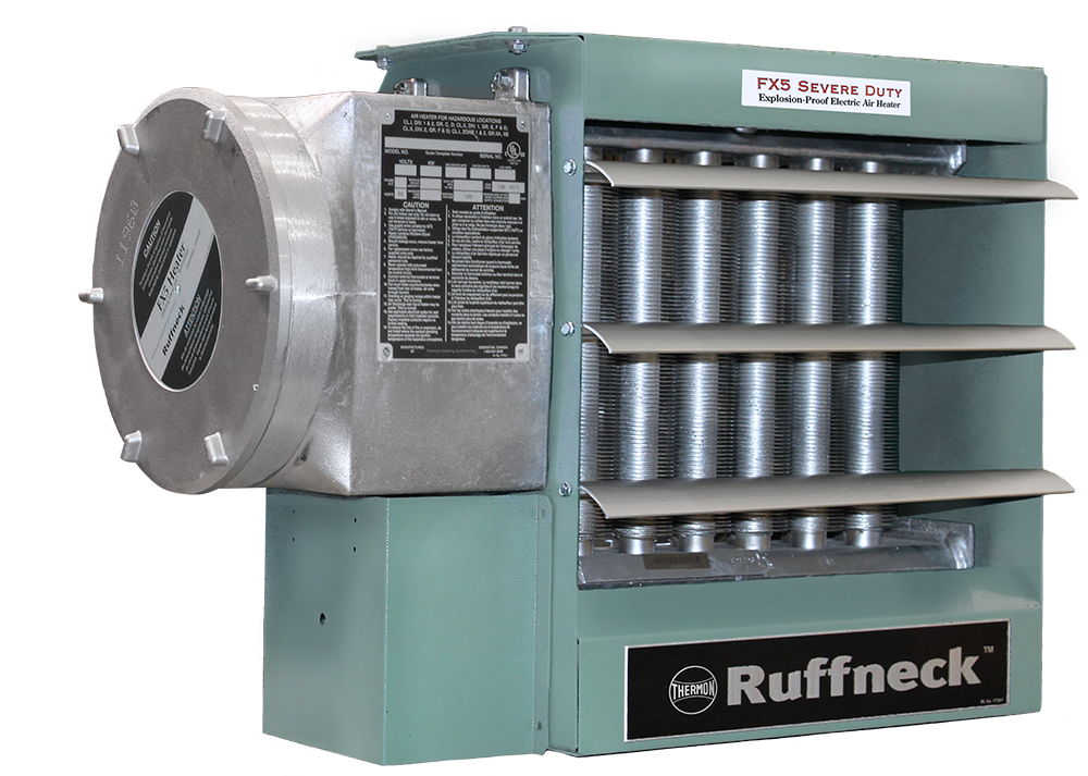 Ruffneck FX5 Severe Duty Explosion Proof Electric Air Heater 34121 BTU 10kW 208V 1Ph FX5-SD-208160-100