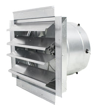 MaxxAir Exhaust Fan w/ Shutters 1 Speed 14 inch 1400 CFM Direct Drive IF14